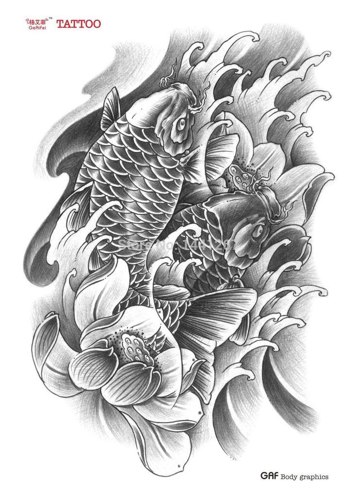 Art book tattoo pesquisa google oriental pinterest for Fake koi fish
