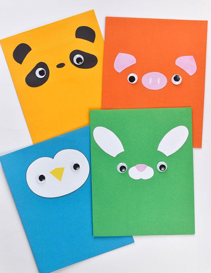 Animal Face Pocket Folders Cool For School School Folders