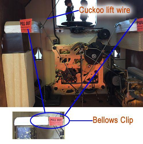 Cuckoo clock bellows