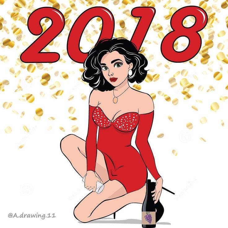 Happy New Year  . . #hello #drawing #illustrator #illustration #girl #mywork #dessin #logiciel #travail #newoninstagram #draw #art #artist #artwork #mood #woman #style #fashion #outfit #ootd #shopping #christmas #bonneannee #fete #happynewyear #decembre