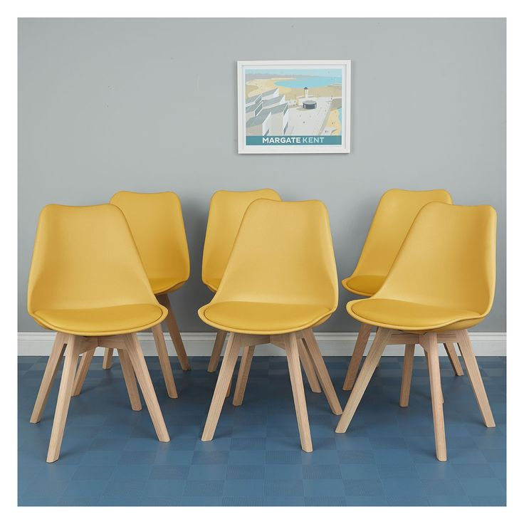 Jerry set of 6 mustard dining chairs in 2020 yellow