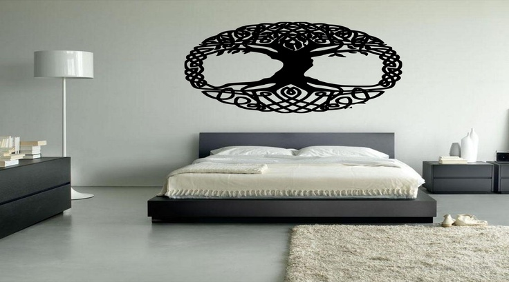 Details about irish celtic pagan tree of life vinyl wall for Irish bedroom designs