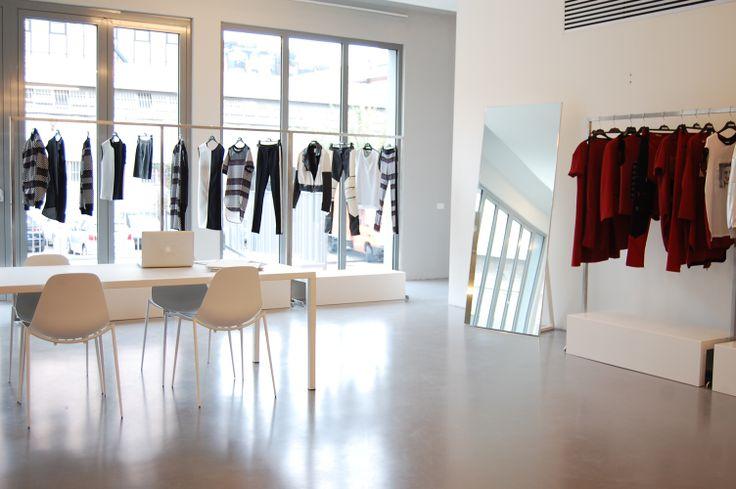 #ILtavolo table and #mammamia chairs #CostumeNational #Showroom, Via Tortona 31 #Milan