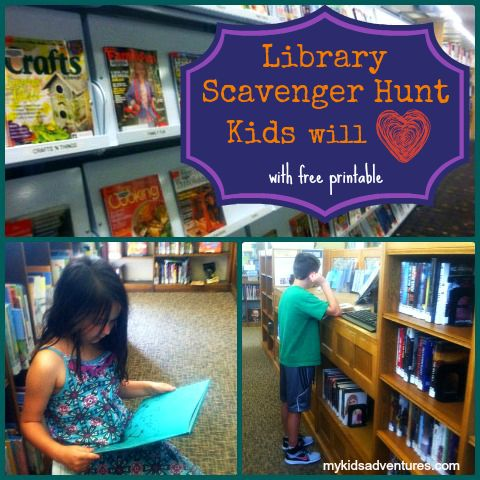 Library scavenger hunt: how to explore your local library with your kids through a fun, engaging game they will adore. I love the idea of having a scavenger hunt in the library. could work for all ages, and involve the community and other locations!