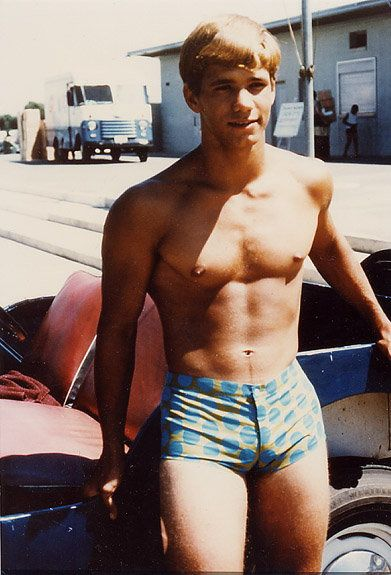 Rod Bauer: Vintage Swimsuits, Polka Dots, Vintage Trunks, Vintage Beefcak, Shorts Shorts,  Bath Trunks, Swim Trunks, Dots Boys, Old Photographers