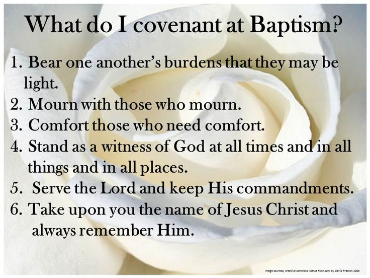 LDS Baptismal Covenant List...fhe once a month up to baptism...talking about each of these covenants and how to keep those covenants...spend two months on each of these covenants.