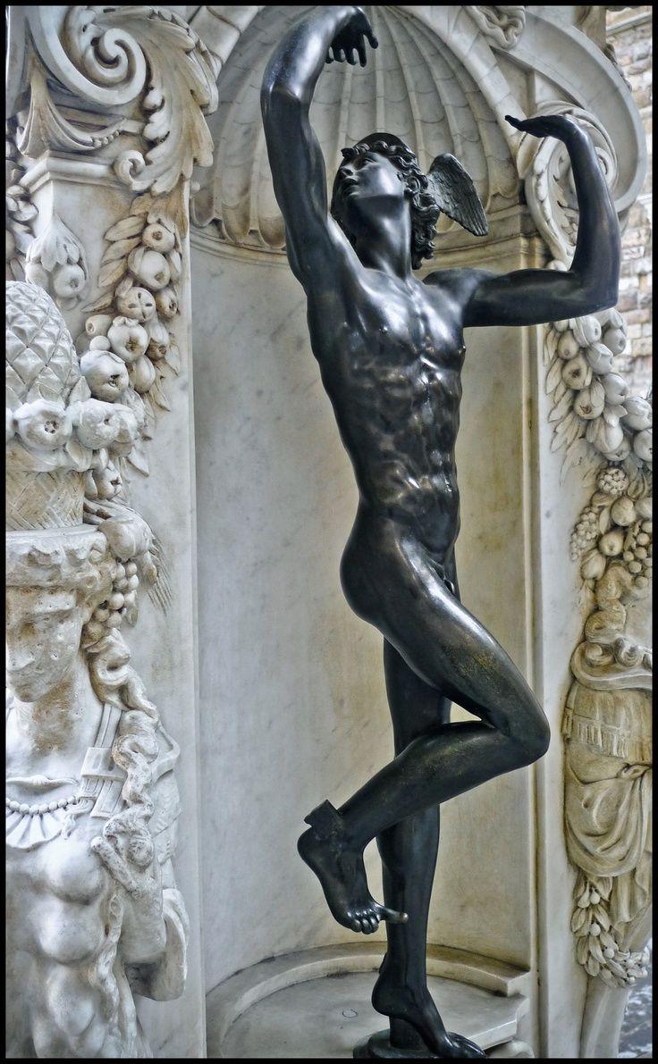 Mercury Benvenuto Cellini Bronze 1550s Bargello Museum