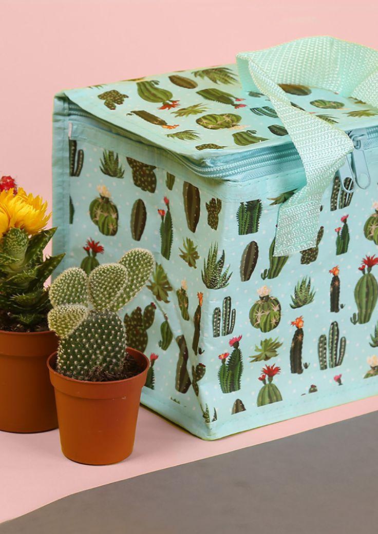 Praktická a stylová chladící taška Kaktus - na cesty nebo na piknik #Kaktus #Cactus #accessories #coolbag #giftware