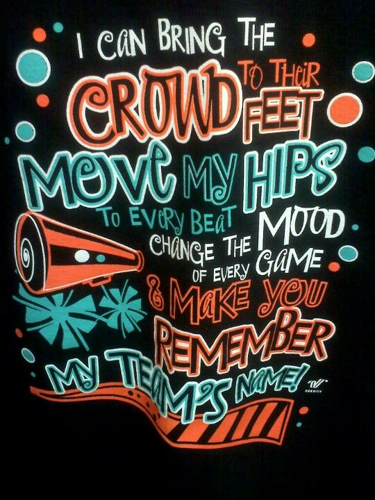 I have this shirt its so lucky i wear it every Wednesday #cheerswag