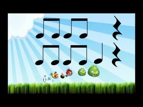 Angry Birds (Lectura rítmica) - YouTube. Read and play/clap along with the Angry Birds music.