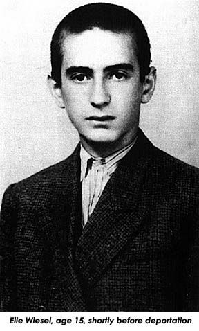 Holocaust survivor Elie Wiesel at age 15. Despite loosing his mother,sisters and watching his father die he made it.