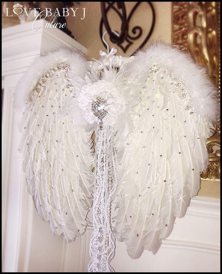 Swarovski Crystal Encrusted Feather Angel Wings
