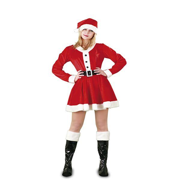 DisfracesMimo, disfraz de mama claus mujer adulto. Es perfecto para repartir ilusión en la Nochebuena y Fiestas típicas de la Navidad.Este disfraz es ideal para tus fiestas temáticas de disfraces de navidad mujer adulto.