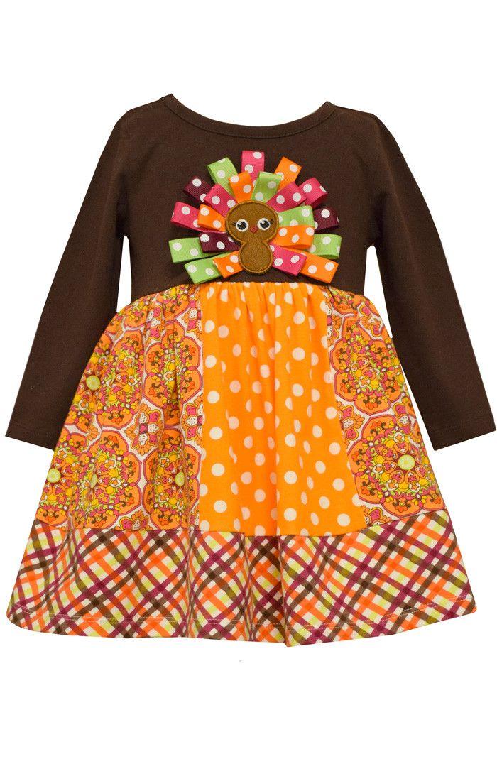 259d1d82055da Bonnie Jean patchwork dress | Infant Toddler girls best Thanksgiving ...