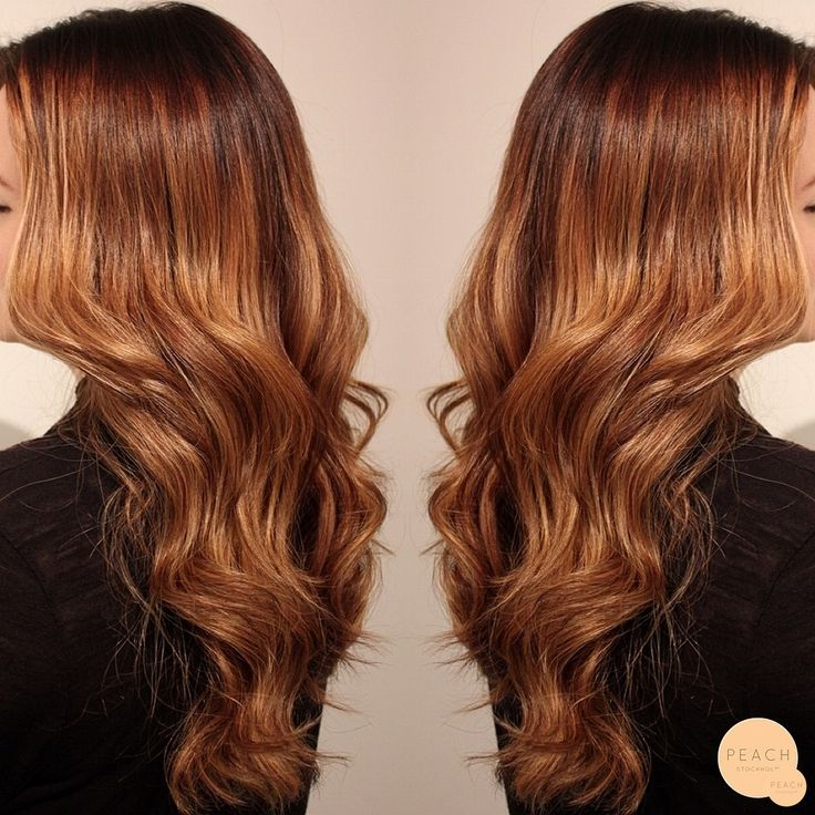 caramel copper ombre balayage