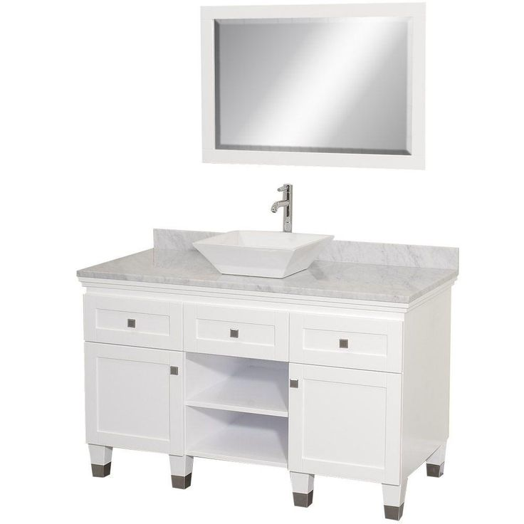 Photo Gallery On Website Wyndham Collection Premiere in Vanity in Espresso with Marble Vanity Top in Carrara White