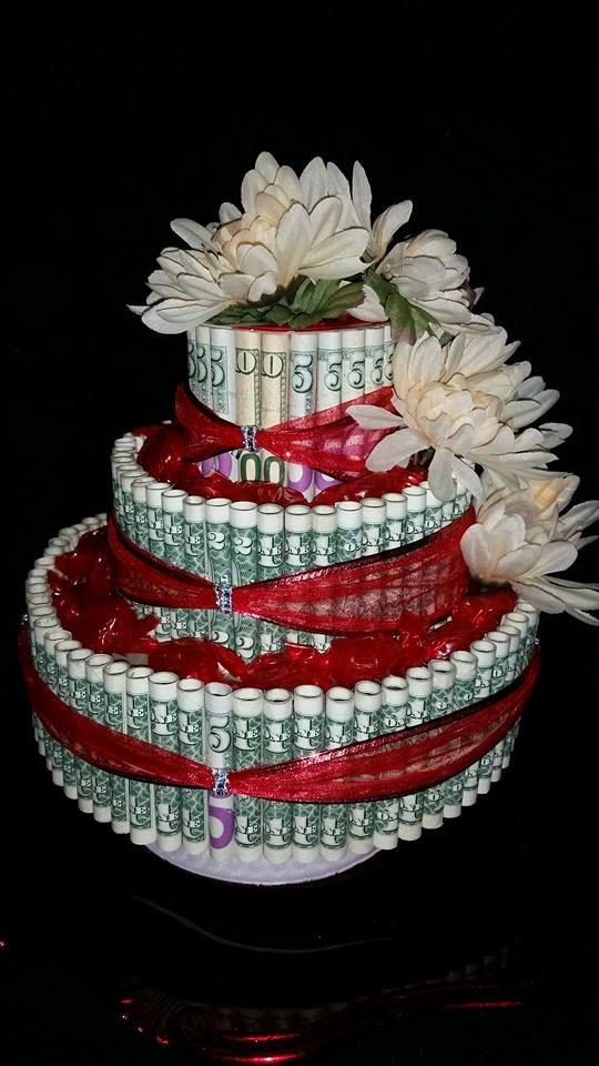 Real United States Money Cake For Valentines Bridal By