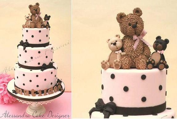teddy bear cake by Alessandra Frisoni Cake Studio