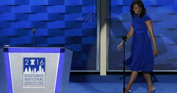 Obama DNC speech   Michelle Obama wore Christian Siriano for her historic DNC speech