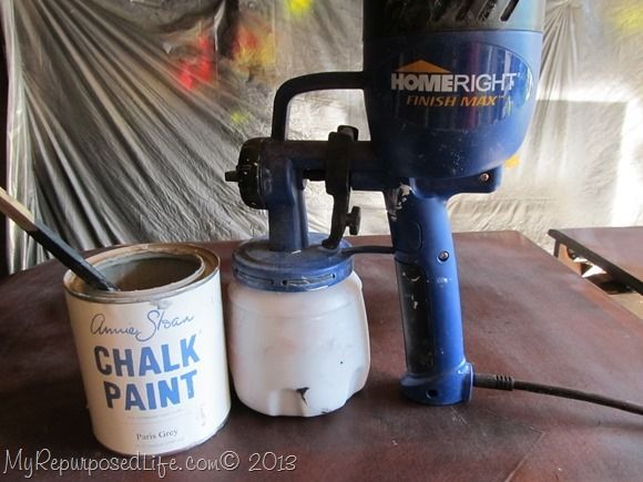 Anne Sloan Chalk Paint in HomeRight Finish Max Sprayer. Tips