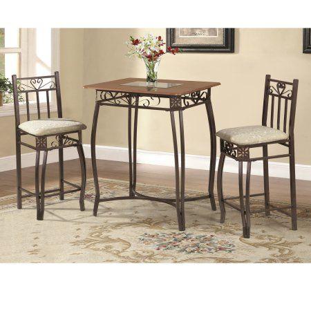 home source bronza hammerton bronze 3 pc breakfast table brown