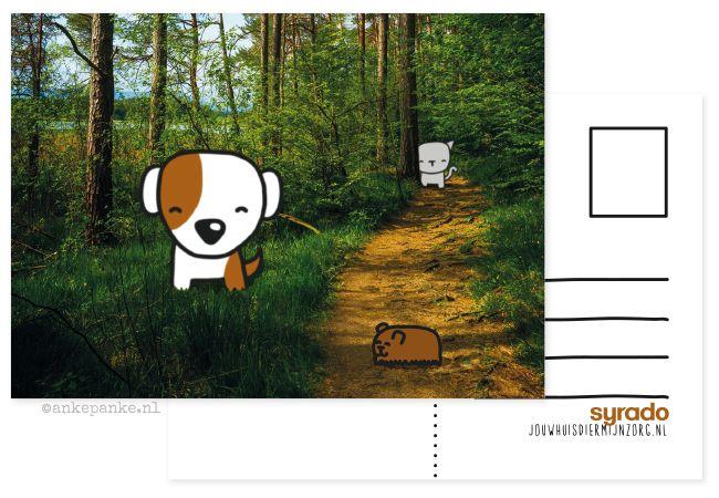 Promotional postcard design for Syrado (animal caretaker) by http://ankepanke.nl