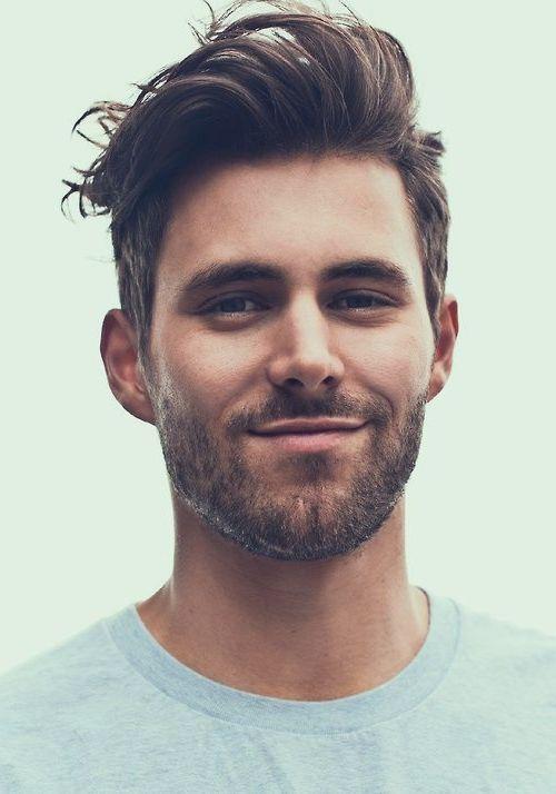 Modern male haircut, beard