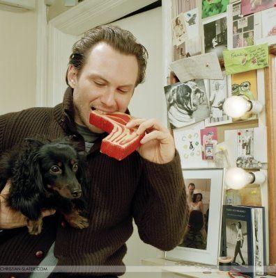 Christian Slater - Dachshund Owner