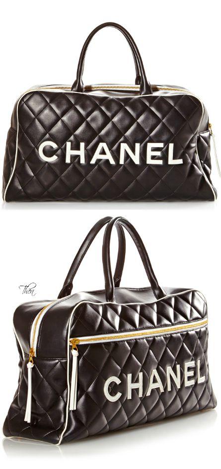 CHANEL Vintage Black Travel Bag ✤HAND'me.the'BAG✤