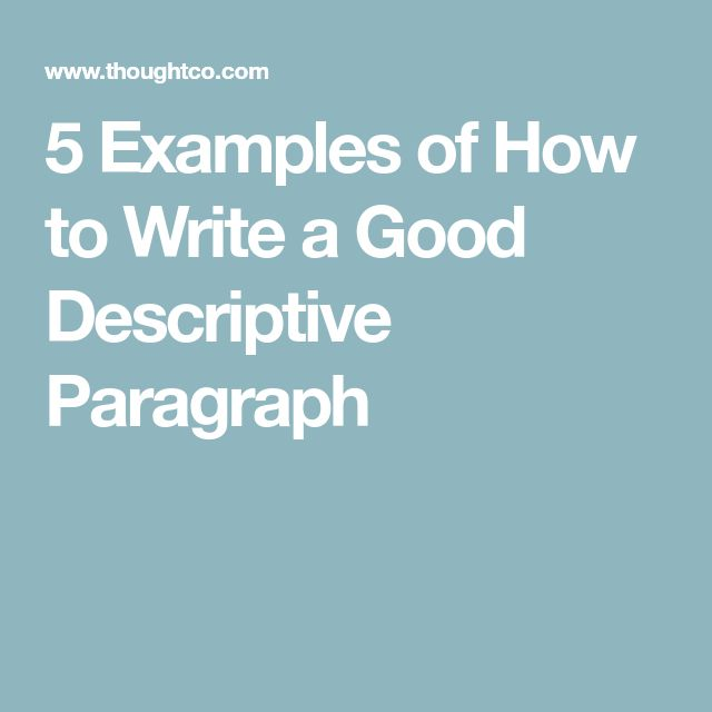 Best descriptive writing examples