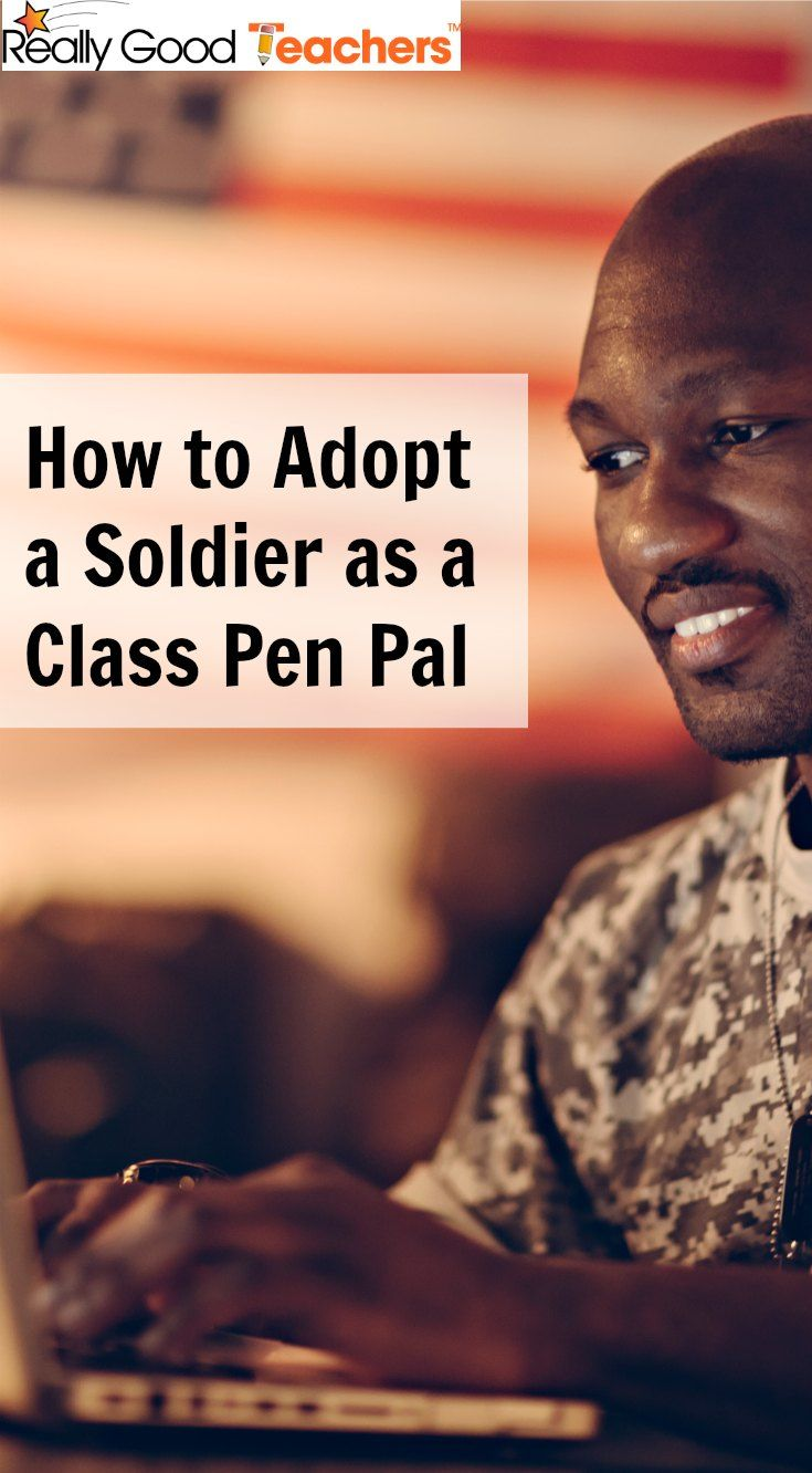 How to Adopt a Soldier as a Class Pen Pal - ReallyGoodTeachers.com