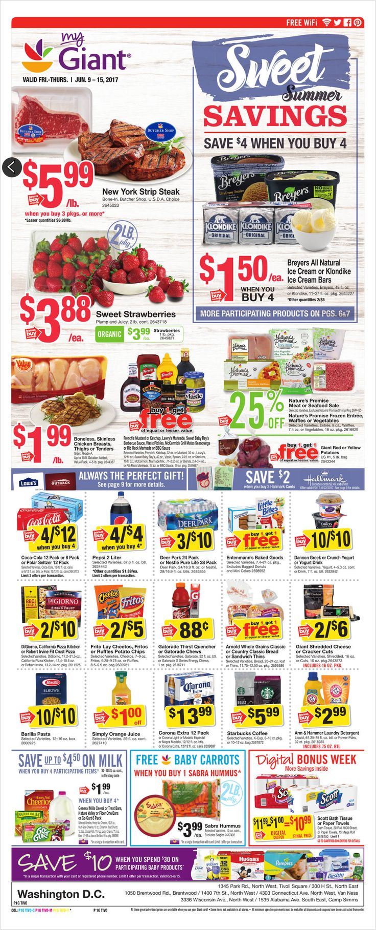 Giant Food Weekly Ad June 9 - 15, 2017 - http://www.olcatalog.com/grocery/giant-food-weekly-ad.html