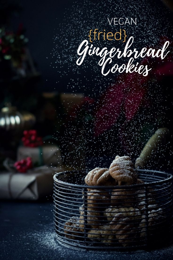 These deep-fried VEGAN Gingerbread Cookies are an indulgence I allow myself only during the holidays! It's that good! #ad #AToraniHoliday #cookies #ChristmasCookies #gingerbread   @ToraniFlavor
