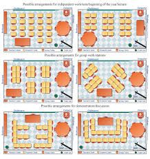 Seating arrangements for one-arm chairs