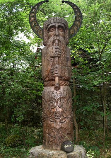 Veles -  a major Slavic supernatural force of earth, waters and the underworld, associated with dragons, cattle, magic, musicians, wealth and trickery. He is the opponent of the Supreme thunder-god Perun, and the battle between two of them constitutes one of the most important myths of Slavic mythology. https://en.wikipedia.org/wiki/Veles_(god)