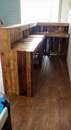 Pallet Shop Counter / Reception Desk   Pallet Furniture DIY