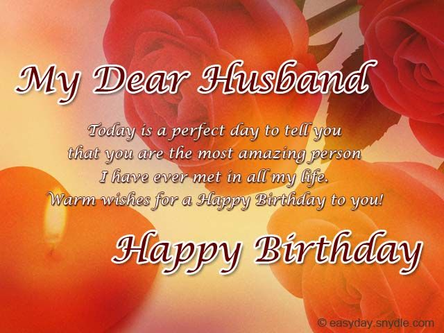 Birthday Messages For Your Husband