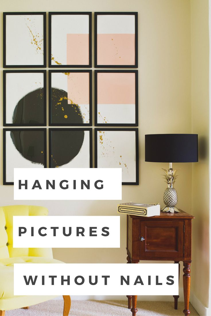 best 25 hanging pictures without nails ideas on pinterest. Black Bedroom Furniture Sets. Home Design Ideas