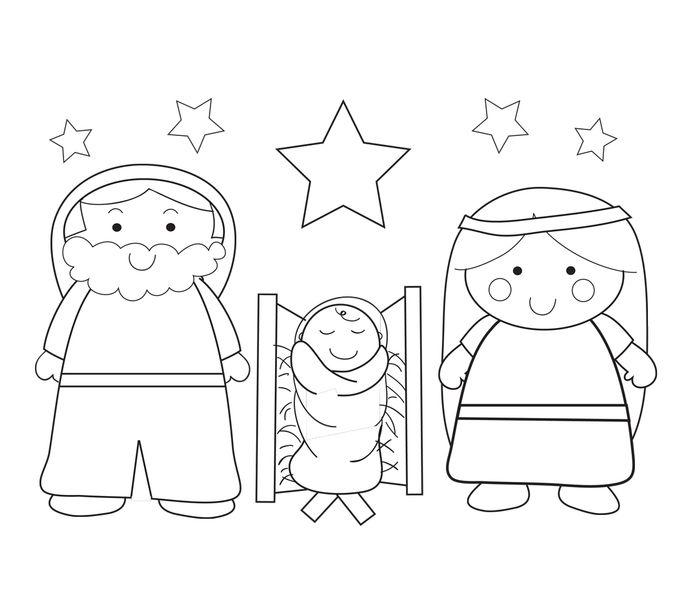 Dibujos para colorear del nacimiento de jes s en un - Laminas de navidad para colorear ...