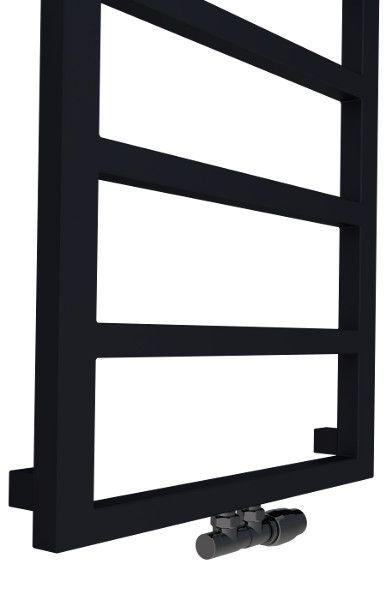 Minimal 930x500 Czarny Strukturalny moc:291W ekskluzywny grzejnik łazienkowy