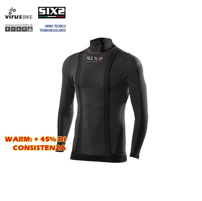 """Lupetto Thermo Carbon Underwear SIXS TS3 Warm - In condizioni estreme, come la pratica dello sport e del motociclismo, è essenziale indossare un prodotto """"potenziato"""" che gestisca la temperatura corporea, trasportando l'eventuale sudore all'esterno, senza assorbirlo."""