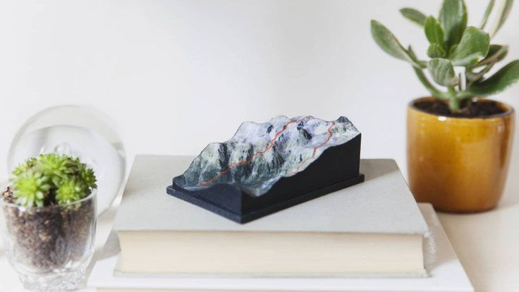 This company takes your GPS route up a mountain and turns it into a three-dimensional sculpture
