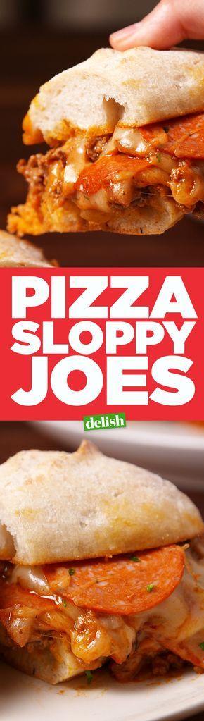 Pizza Sloppy Joes  - Delish.com