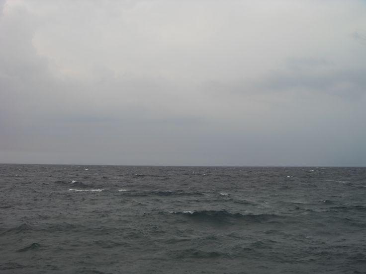 Donghae Eastern Sea of Korea on blank sheet of music paper of gamut