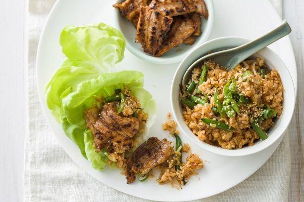 Korean barbecue pork with kimchi fried rice main image