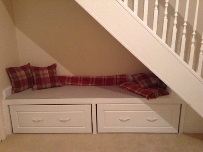 236 best home decor and improvement images on pinterest for Using space under stairs