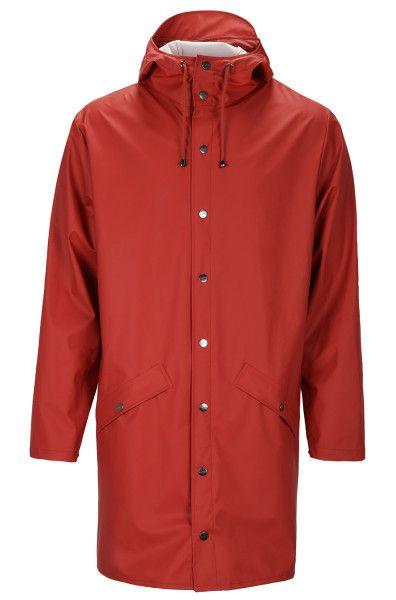Rains Jacke lang scarlet