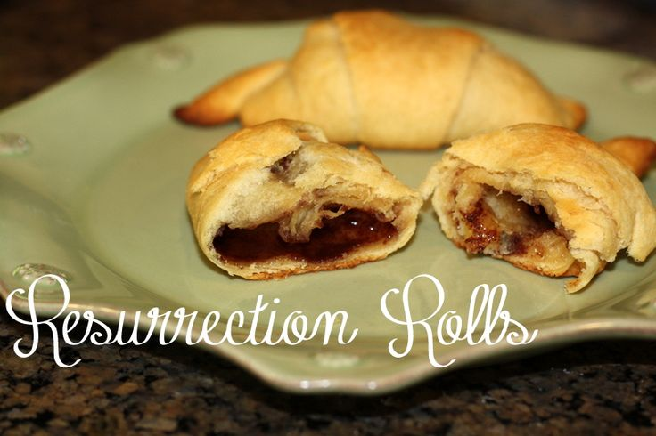 resurrection rolls for teaching kids about Easter