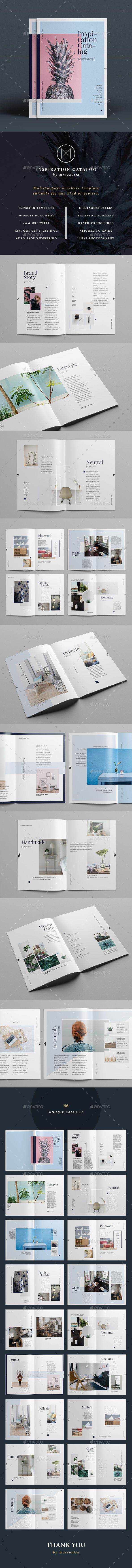 Inspiration Catalog  — InDesign Template #informational #catalog • Download ➝ https://graphicriver.net/item/inspiration-catalog/16420995?ref=pxcr