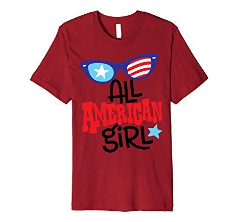 Amazon.com: USA 4th of July Patriot All American Girl T Shirt Gift Ideas: Clothing